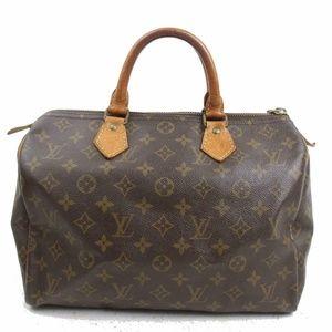 Auth Louis Vuitton Speedy 30 Boston Bag #2080L14